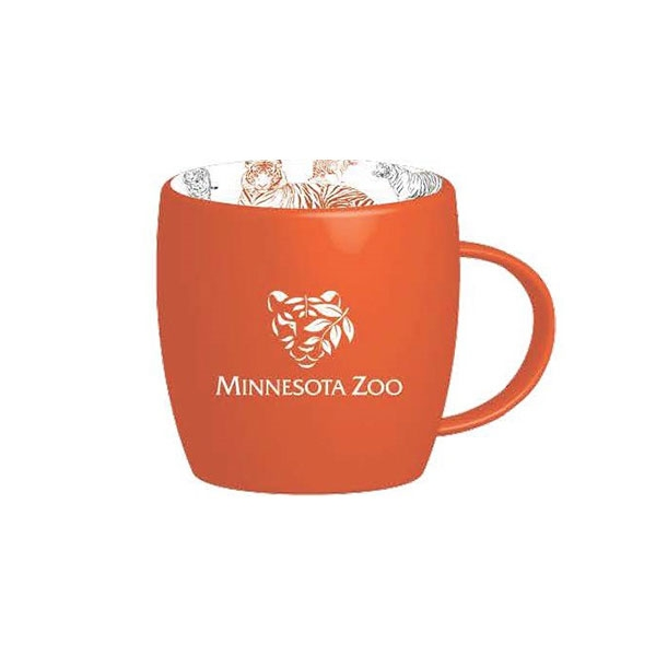 MUG TIGER PATTERN ORANGE