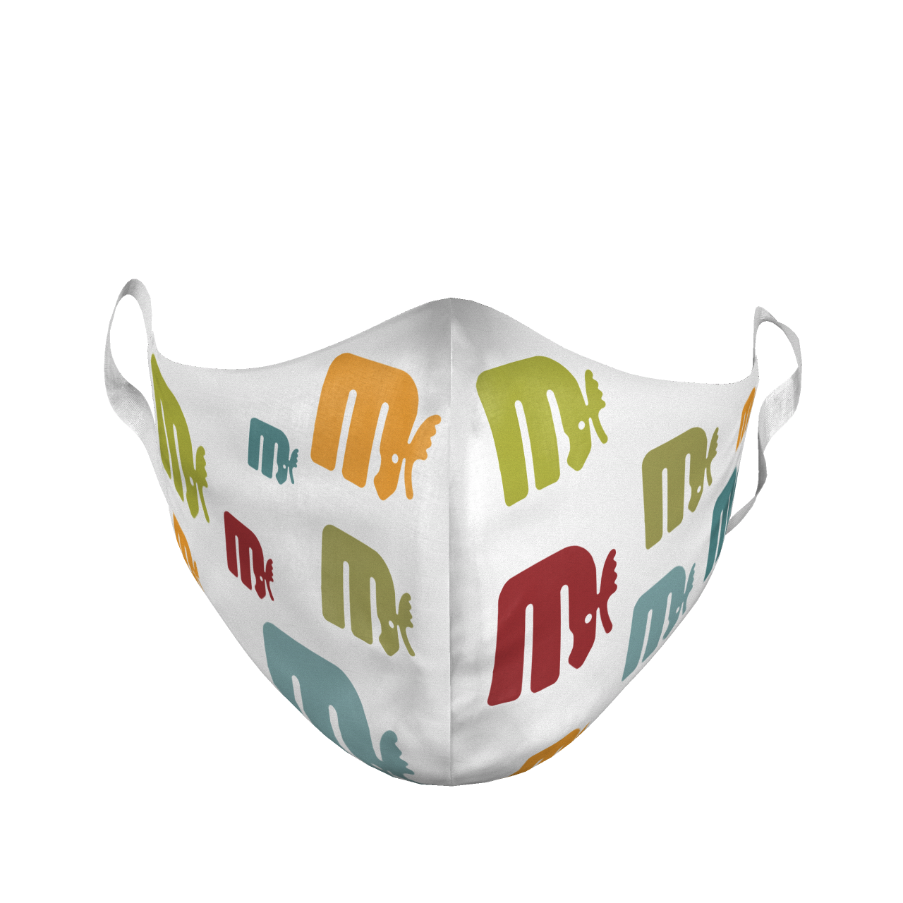 ADULT LARGE RETRO LOGO REPEAT FACE MASK