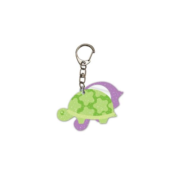 Glitter Turtle Keychain