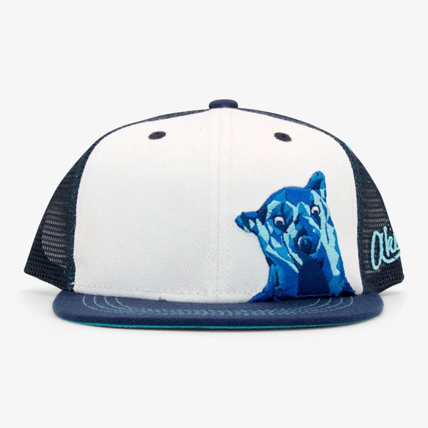 YOUTH BASEBALL HAT BEAR BLUE