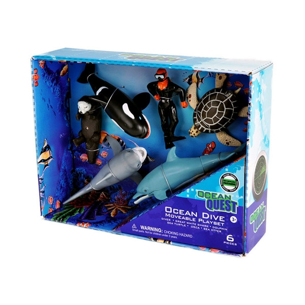 OCEAN QUEST MOVABLE DIVE PLAYSET