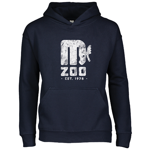 YOUTH MINNESOTA ZOO RETRO LOGO NAVY HOODIE