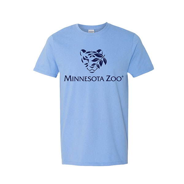 ADULT SHORT SLEEVE TEE TIGER LOGO CAROLINA BLUE