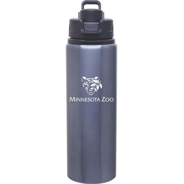 BOTTLE ALUMINUM LOGO GREY