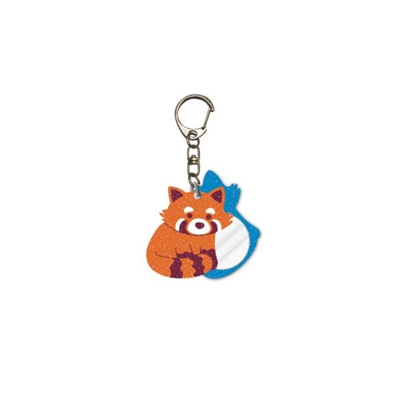Glitter Red Panda Keychain