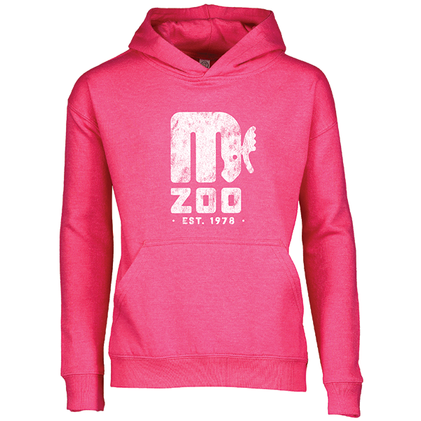 YOUTH MINNESOTA ZOO RETRO LOGO HOT PINK HOODIE
