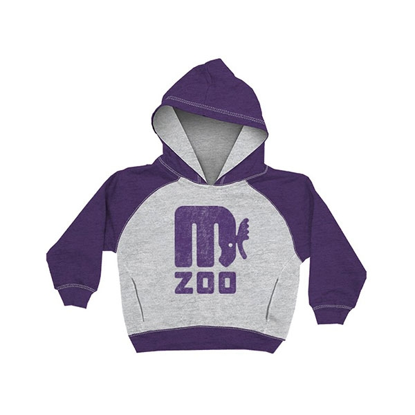 YOUTH HOOD SWEATSHIRT RETRO MOOSE HEATHER PURPLE