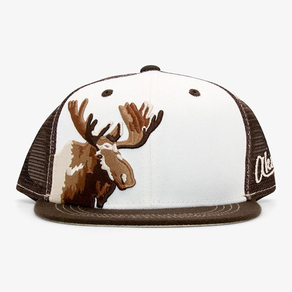 YOUTH BASEBALL HAT MOOSE BROWN