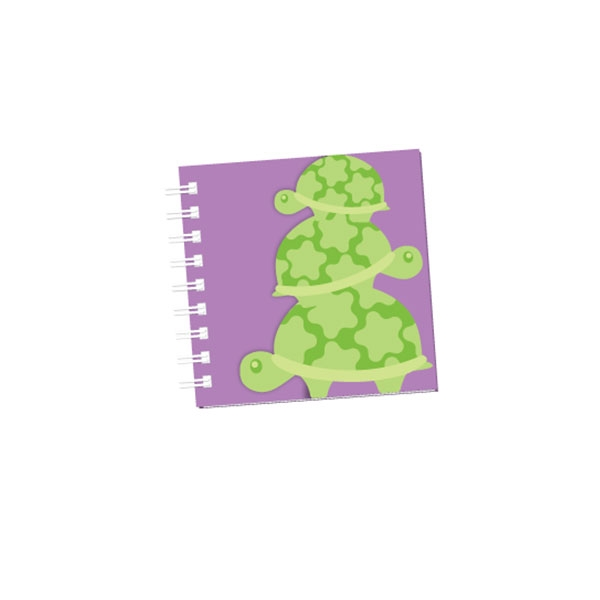 Glitter Turtle Notebook