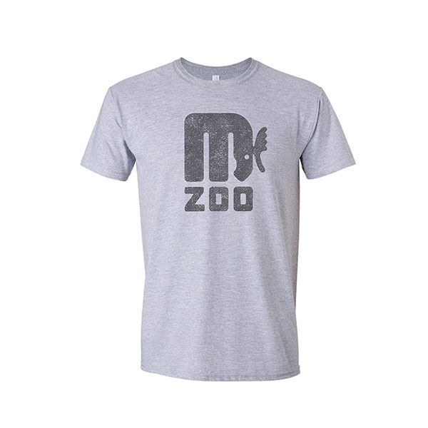 ADULT SHORT SLEEVE RETRO MOOSE HEATHER GREY