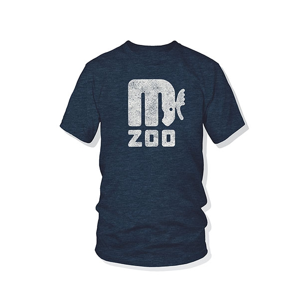 ADULT SHORT SLEEVE TEE RETRO MOOSE NAVY