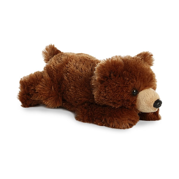 GRIZZLY BEAR MINI FLOPSIE PLUSH