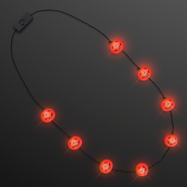LITTLE LIGHT PUMPKIN CHARMS NECKLACE