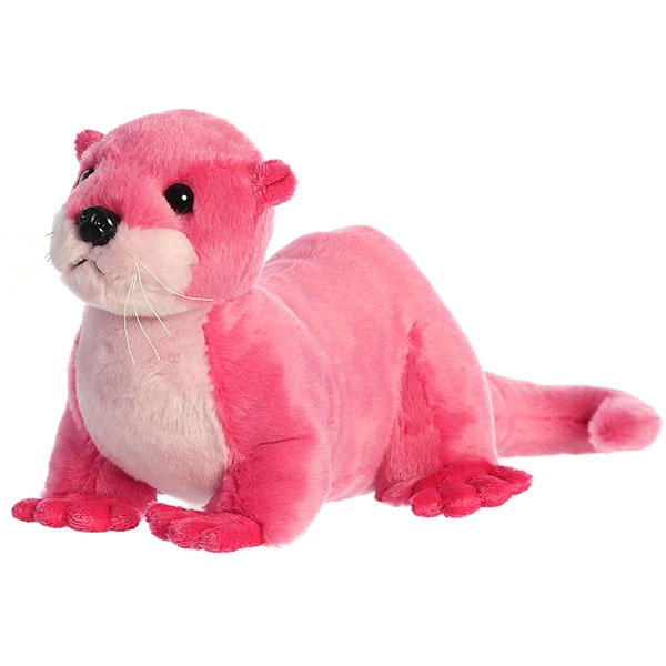 RIVER OTTER DESTINATION NATION PLUSH PINK