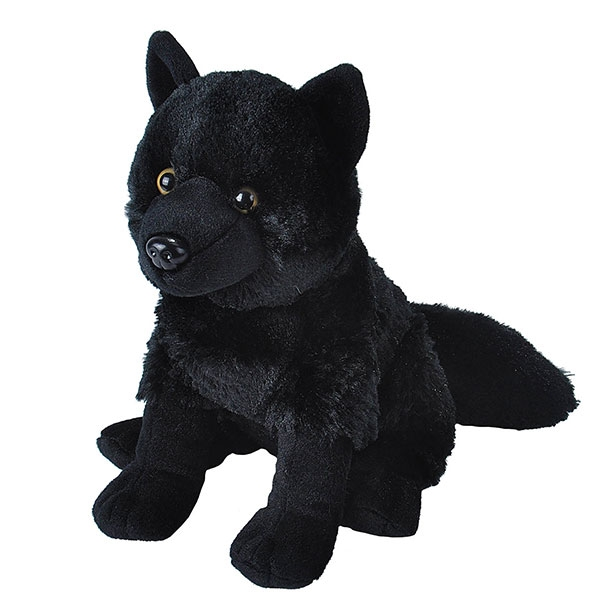BLACK WOLF PLUSH