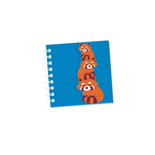 Glitter Red Panda Notebook