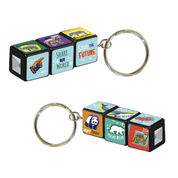 KEYCHAIN PUZZLE CUBE SAVE THE FUTURE