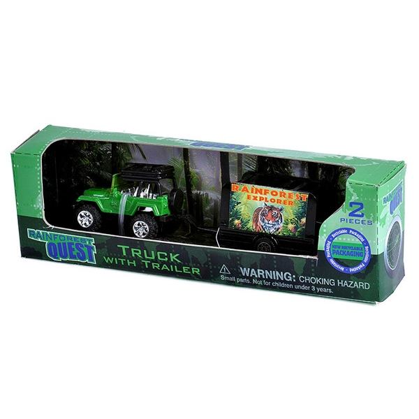 RAINFOREST QUEST TRUCK WITH TRAILER