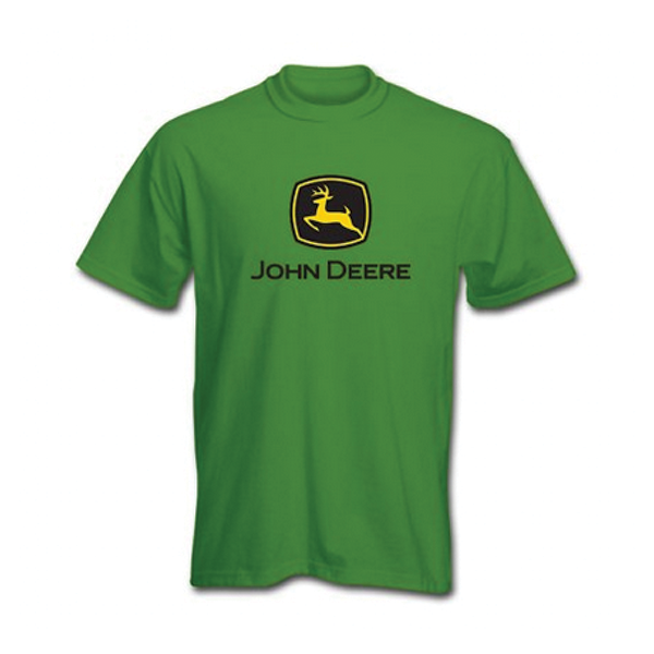 ADULT JOHN DEER TEE GREEN