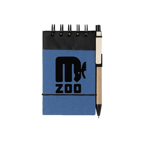JOTTER & PEN RETRO MOOSE BLUE