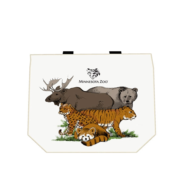 TOTE MINNESOTA ZOO CANVAS SHOPPER