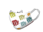 ADULT RETRO LOGO REPEAT FACE MASK